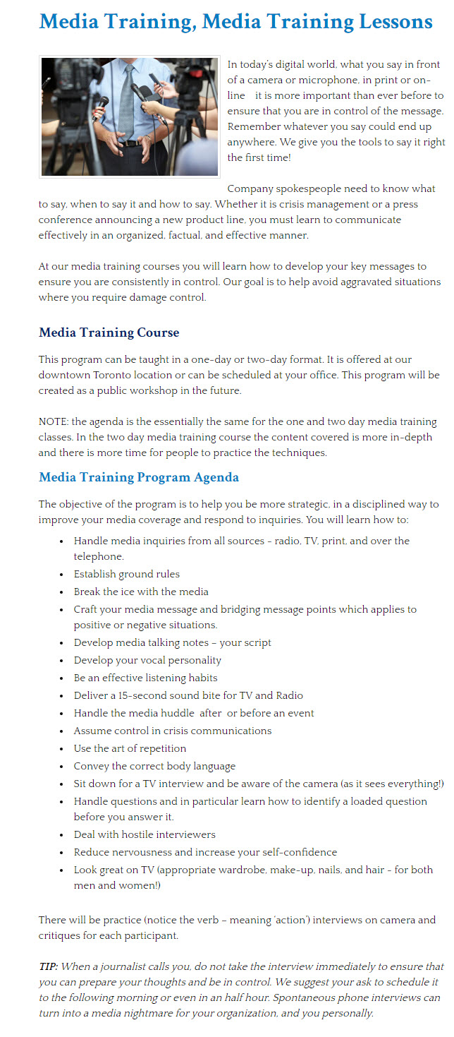 Microphone Training Classes Toronto