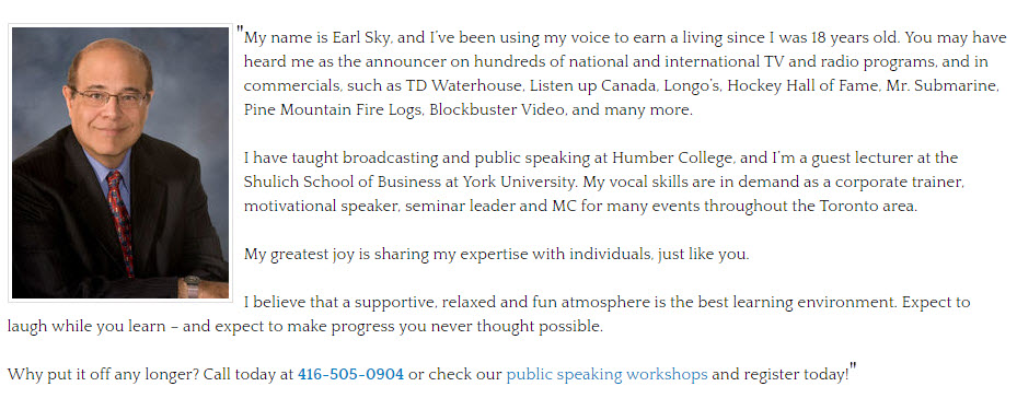 Public speaking courses for youth toronto