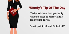 Did You Know That You Only Have 10 Days to Report a Fall on City Property?
