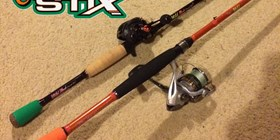 Carrot Stix Wild Wild Black Med Mod and Casting Reel Combo