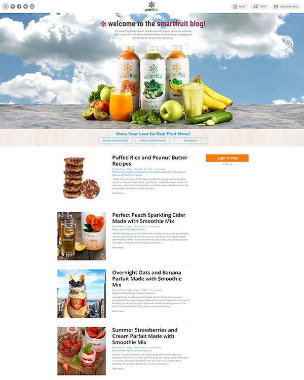 SmartFruit Website